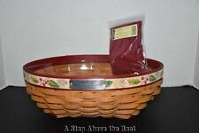 Longaberger 2011 Christmas Holly Berry Basket Set - NEW