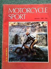 Motorcycle Sport(Jan 1981)moto morini 500/bmw r60/7 kwack 500/4