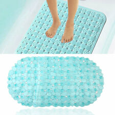 1PC Shower Toilet Bathtub Mat Anti Slip Rubber Bathroom Mats Safety Blue IB