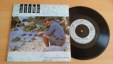 "STING - LOVE IS THE SEVENTH WAVE (NEW MIX) - 45 GIRI 7"" - UK PRESS"