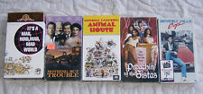 5 Lot VHS Tapes Movie Beverly Hills Cop Animal House Mad World Trouble Sistas