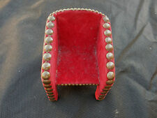 unusual vintage ART DECO MINIATURE CHAIR  IN BLOOD RED VELOUR