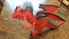 "Dragon-I-Toys 18"" Red Dragon Roars, Walks, Eyes Light Up, Head Rotates Very Cool"