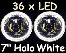 "1pr WHITE Halo 7"" Lights Holden Gemini TX TC TD TE Drover Jackaroo KB Rodeo"