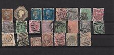 Gran Bretaña. Conjunto de 22 sellos usados clásicos con valor de 3395 Euros