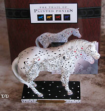 TRAIL OF PAINTED PONIES Spot LOW 1E/183~Horses/Dalmatians~Canine/Equine Friends