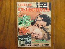 """1980  """"Chief of Detectives"""" Magazine  (CHARLES  YUKL/KARIN SCHLEGL/TELLY SAVALAS"""