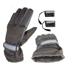BATTERY HEATED WINTER GLOVES With 2 Rechargeable Battery Outdoor Work- Gray XL