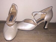 Vintage New Unworn Stuart Weitzman 10 B Pearl White Heels Shoes Metallic Pump
