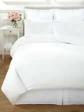 Vera Wang Sculpted Floral White King Duvet Cover MSRP $570