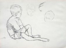 Child portrait, possibly Roger Hilton 1911-1975 by Louisa Sampson (Mother) Slade