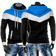 MENS HOODED HOODY HOODIES SWEATSHIRT JACKET SLIM FIT CASUAL SWEATER JUMPER TOPS