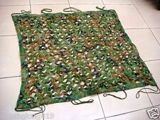 MILITARY SURPLUS SINGLE FOLIAGE CAMOUFLAGE NET WOODLAND CAMO #31647