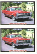 1967 Ford Fairlane 427 baseball card sized cards - Must See!! - lot of 2