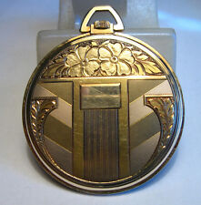 Vintage CYMA TAVANNES 14kt 585 Gold Art Deco Open Face Pocket Watch Swiss Made
