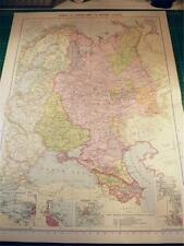 MAP FROM PHILIP'S ATLAS 1931 - RUSSIA IN EUROPE & BORDERING STATES - 67-68/31