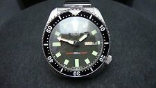 Vintage Seiko divers 6309 CLASSIC BLACK DIAL BB BLUE SAPPHIRE CRYSTAL K53