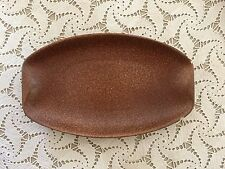 VIntage Mid Century Roseville Pottery Raymor Plate, Brown, #191