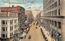 MARKET STREET WANAMAKER STORE PHILADELPHIA PENNSYLVANIA POSTCARD 1917