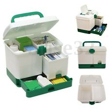 3 Layer Health Box Medicine Chest Handle First Aid Kits Storage Drawer Organizer