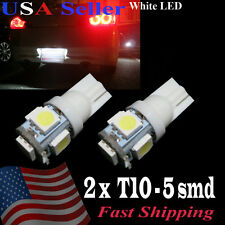 2 x 6000K T10 LED LICENSE PLATE TAG LIGHT BULBS 68 192 194 2825 5050 5-LED