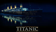 Titanic LOVE Movie Ship Water Night Poster 24x36 inch