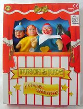 NEW PUNCH AND JUDY PLAY SET PUPPET SHOW 4 HAND PUPPETS THEATRE PADG DAMAGED BOX