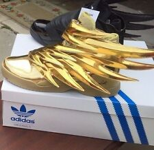 HOT BUNDLE Adidas Jeremy Scott WINGS 3.0 JS Gold AND Black Batman 100% Authentic