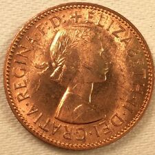 1960 Great Britain Half Penny; GEM BU