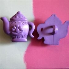 15 Teapot Hot Water Tea Pot Dress It Up Kid Novelty Sewing Buttons Purple K247