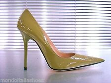 MORI MADE IN ITALY POINTY HIGH HEELS PUMPS SCHUHE LEATHER DECOLTE GREEN VERDE 39