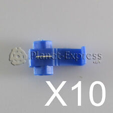 10 x Conectores cable Rapidos roba corriente Scotch Lock 1 a 2,5mm. AWG 18-14