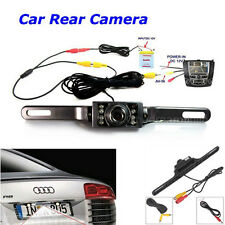 7 LED CMOS Car Rear View  Night Vision Backup Camera with RCA Video Cable Set US