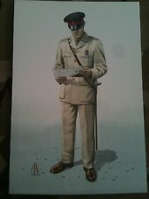 Military Postcard Captain 1 bn Royal Regiment of Wales Hong Kong 1991 Alix Baker