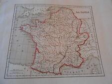Carte sur Acier 19ème - La Gaule