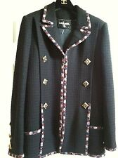 Chanel 2011A Paris-Byzance BLACK  MULTICOLOR Confetti GRIPOIX buttons FR46 $9K