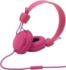 Wesc Matte Conga Premium Auriculares Con Micrófono Rosa Magenta totalmente nuevo PVP £ 39.99