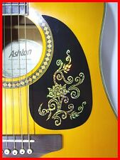 ACOUSTIC GUITAR PICKGUARD / SCRATCHPLATE SELF-ADHESIVE GOLD FLOWER DESIGN