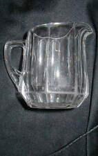 1910 DATED HEISEY ELEGANT GLASS CREAM PITCHER, COLONIAL PATTERN !!