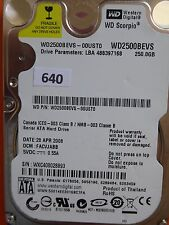 250GB Western Digital WD2500BEVS-00UST0 | FACVJABB | 28 APR 2008 #640