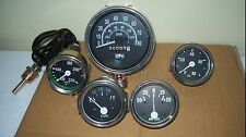 Willys Jeep MB GPW CJ Gauges Kit - Speedometer MPH/KPH+Temp+Oil+ Fuel+ Amp Gauge