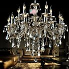15 Lights Gorgeous K9 Crystal Chandelier Ceiling Fixture Lamps Lighting 110-240V