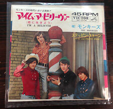 "THE MONKEES I'm a believer / (I'm Not Your) Steppin' Stone 7"" 45 Single Japan"
