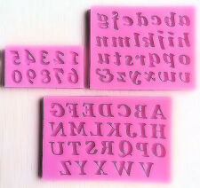 Letters & Numbers 3 pc Silicone Mold Set for Fondant Chocolate Crafts etc NEW