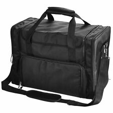 1200D Pro Black Soft Makeup Train Bag Case Pockets Artist Cosmetic Organize