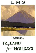 Donegal - Ireland - LMS Railway Travel Vacation A3 Art Poster Print