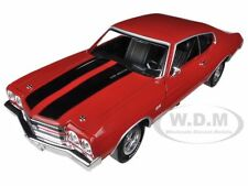 "1970 CHEVROLET CHEVELLE SS 396 CRANBERRY RED ""TOP GEAR"" 1/18 AUTOWORLD AMM1021"