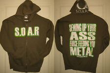 SIEGE OF AMIDA RECORDS Zip Up Hoodie Sml S.O.A.R. Feeding You Metal HTF RARE OOP