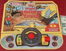 2002 HASBRO TONKA I CAN DRIVE MY MIGHTY TRUCK ELECTRONIC SOUNDS READ & PLAY BOOK