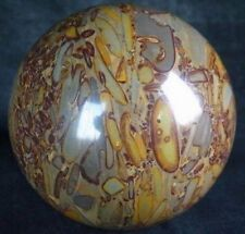 Bamboo Stone Sphere, Crystal Rock Ball Healing,Rock 55mm + stand